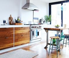 Rustic Contemporary Kitchen // Photography Ashley Tonner // House & Home February 2011