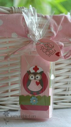 Stampin' Up!  Owl Punch  Jo Dumbleton  Get Well Soon   Nurse Owl