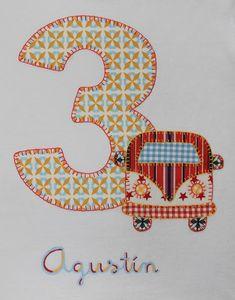 cocodrilova: camiseta de cumpleaños 3 años furgoneta hippy #camisetapersonalizada #camisetacumpleaños #cumpleaños #3años #furgonetahippy #hechoamano  camiseta-cumpleaños-3años