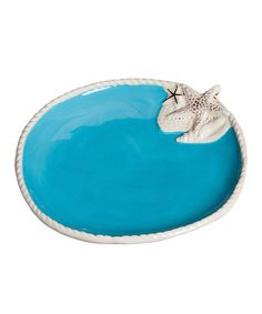 Love this Blue Shell 8'' Salad Plate by Cypress Home on #zulily! #zulilyfinds
