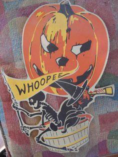 Whoopee Witch and . Halloween Designs, Halloween Tumblr, Halloween Items, Halloween Skeletons, Diy Halloween Costumes, Holidays Halloween, Scary Halloween, Vintage Halloween, Paper Halloween