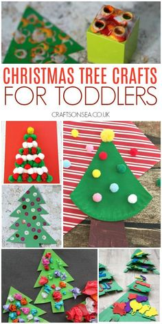 Easy and Fun Christmas Crafts for Toddlers Simple, effective and most of all fun! Fantastic Christmas crafts for toddlers that they'll love and you will too! Ornaments, Christmas tree crafts and Easy Christmas Crafts For Toddlers, Childrens Christmas, Toddler Christmas, Christmas Activities, Christmas Crafts For Kids, Toddler Crafts, Preschool Crafts, Simple Christmas, Kids Christmas
