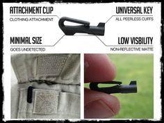 handcuff key you now won't ever have to worry about being illegally detained by a criminal. The key is designed to be part of your everyday carry so it's Urban Survival, Survival Tools, Survival Prepping, Emergency Preparedness, Edc Tools, Survival Life, Handcuff Key, Gadgets, Edc Everyday Carry