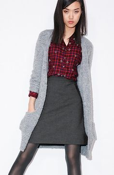Halogen® Embellished Plaid Shirt (Regular & Petite) | Nordstrom