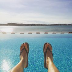 Infinite view from the infinity pool
