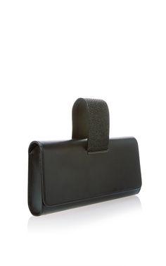 afbbb5f407c0 Menotte Clutch In Black Calf   Caviar Stingray by Perrin Paris for Preorder  on Moda Operandi