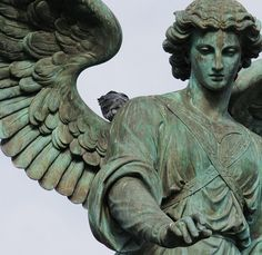 ☫ Angelic ☫  winged cemetery angels and zen statuary - Angel of the Waters - Bethesda Terrace - Central Park