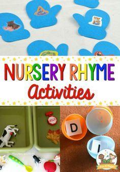 Nursery Rhymes Activities for Preschoolers - Pre-K Pages