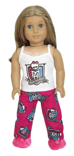 Silly Monkey - Monster High Pajamas (American Girl), $16.99 (http://www.silly-monkey.com/products/monster-high-pajamas-american-girl.html)