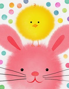 Margaret Berg Art: Easter Bunny Chick Buddies