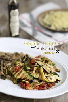 Makkelijke maaltijd: gegrilde groenten met balsamico en couscous - Via BrendaKookt.nl