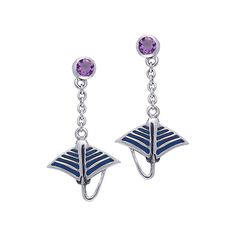Manta Ray Sterling Silver Post Earring TER022