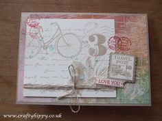Postage stamp punch, Postage Due, Stampin Up!
