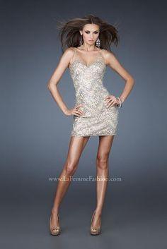 La Femme Evening Dress 18308
