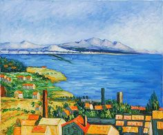 Paul Cezanne Paintings List | The Bay of Marseilles by Paul Cezanne | Oil Painting Reproduction