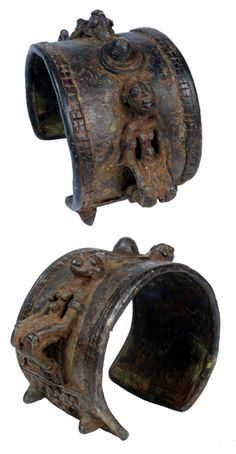 Mali   Cuff bracelet from the Dogon people   Bronze; lost wax method   Early 20th century   280€