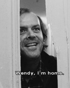 Jack Nicholson as Jack Torrance - 'The Shining', 1980.
