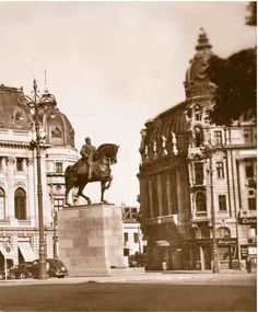 Calea Victoriei in perioada interbelica Bucharest Romania, Communism, My Town, Taj Mahal, Dan, Lost, Memories, Travel, Gotha
