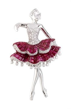 Van Cleef &Arpels Fine jewelry of ballet Collection Van Cleef And Arpels Jewelry, Van Cleef Arpels, Antique Jewelry, Vintage Jewelry, Saphir Rose, Look Vintage, High Jewelry, Gold Jewelry, Ruby Jewelry