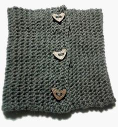 DIY Bufanda de lana cerrada con botones   Handbox Craft Lovers   Comunidad DIY, Tutoriales DIY, Kits DIY Cowl Scarf, Collars, Scarves, Knitting, Crochet, Sweaters, Crafts, Manual, Fashion