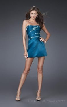 A-Line Tube Short Elastic woven satin Prom Dress