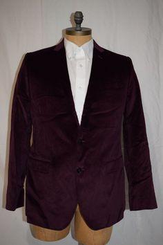 DOLCE & GABBANA Martini Bordeaux Velvet Dinner Blazer Jacket 52 #DolceGabbana #TwoButton