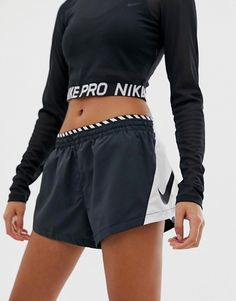 Shop the latest Nike Running Elevate Color Block Shorts In Black trends with ASOS!