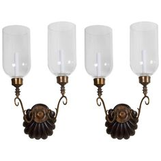 Pair of Anglo Indian Two-Light Sconces 1
