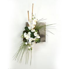 Distinctive Designs Orchids Bamboo and Grass Wall Hanging Silk Plants - 7571RA