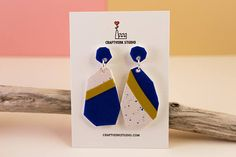 Statement earrings for women, clay jewelry, dangle earrings, polymer clay earrings, geometric earrings, terrazzo earrings, abstract earrings