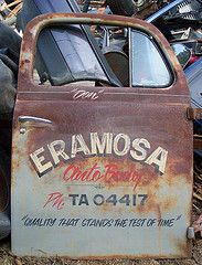 Old truck door art - love the colours , distress for a t.shirt graphic
