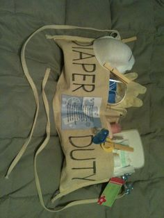 Diaper Duty Tool Belt - Diaper Creations by Jocelyn