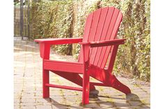 Add cottage-quaint charm to your outdoor oasis with this Adirondack chair in red. Made of a hearty hard plastic material with a touch of texture, it's sure to weather the seasons beautifully. Designed to shed. Best Outdoor Furniture, Funky Furniture, Furniture For Small Spaces, Plywood Furniture, Furniture Plans, Rustic Furniture, Furniture Design, Outdoor Seating, Outdoor Chairs