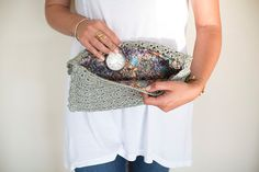 Crochet Clutch, Crochet Handbag, Crochet Bag, Crochet Purse, Light Green Handbag