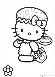 HELLO KITTY COLORING PAGES Hello Kitty Driving A Vespa