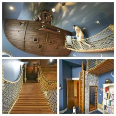 Great kid's room idea!!! (however that looks like an adult making his way to bed LOL!)