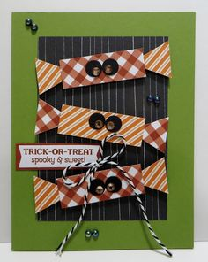 Create Christmas Cards, Christmas Arts And Crafts, Holiday Cards, Halloween Cards, Halloween Pumpkins, Fall Halloween, Stampin Up Paper Pumpkin, Whimsy Stamps, Pumpkin Ideas