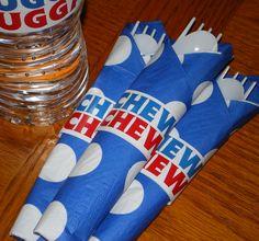 CHEW CHEW napkin ring for Thomas the Train birthday party.