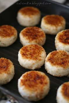 Rice Balls - they were so good!Grilled Rice Balls - they were so good! Onigirazu, Sushi, Good Food, Yummy Food, Rice Balls, Asian Recipes, Asian Desserts, Asian Foods, Balls Recipe