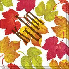 Falling Leaves Caspari Napkins