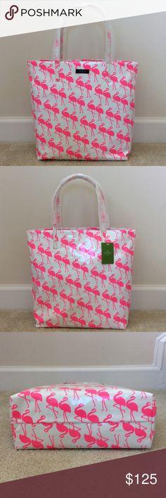 Spotted while shopping on Poshmark: Kate Spade Daycation Bon Shopper Flamingo! #poshmark #fashion #shopping #style #kate spade #Handbags
