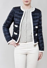 Moncler Collarless puffer jacket