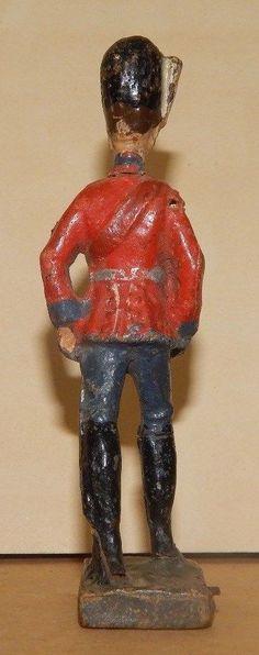 Antike Masse Figur 10,5 cm Elastolin Dänischer Offizier WK 1 WW 1   eBay