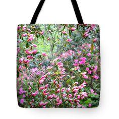 "Azalea Heaven Tote Bag 18"" x 18""  #totebags #azaleas"