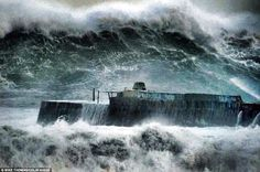 Cripes. Cornwall Coast during 2014 storms.