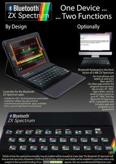 Bluetooth ZX Spectrum: Recreating the Sinclair ZX Spectrum as a Bluetooth controller for iOS apps #kickstarter