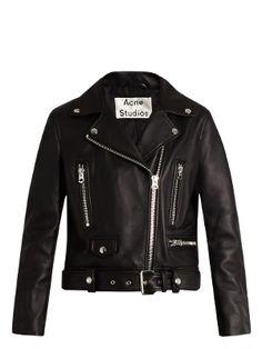 Mock leather biker jacket   Acne Studios   MATCHESFASHION.COM