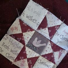 Hand stitched block... Lynette Anderson Class