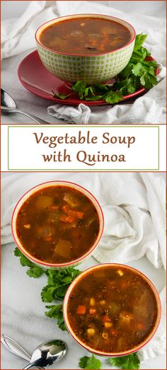 Vegetable Soup with Quinoa from www.SeasonedSprinkles.com
