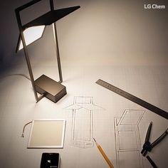 LG Chem OLEDs will change Your light- style. You Create We Light. www.lgoledlight.com #LGChem #OLED #light #designer #frame